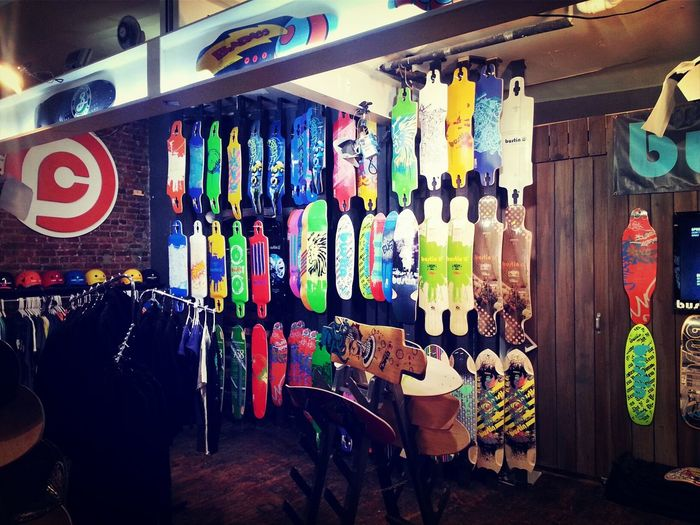 wall of boards