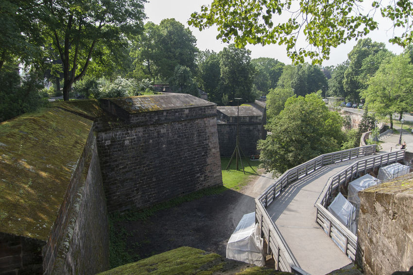 Bridge Castle Day Ditch Europe Fortress Fortress In Europe Fortress Wall Germany Historic Historical History Landmark Medieval Moat No People Nuremberg Outdoors Sky Stone Stone Wall Stronghold Travel Destinations Wall