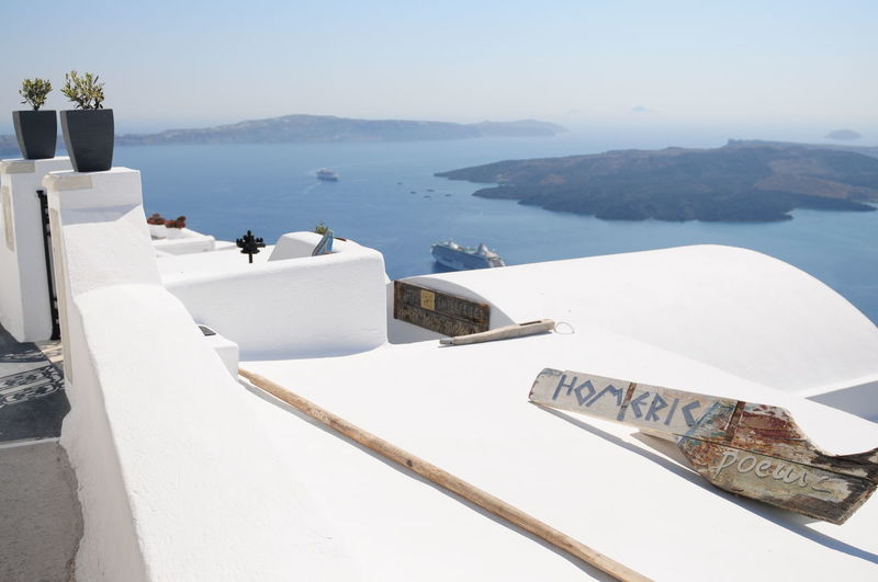 Santorini, Greece. Aegean Amazing Architecture Beauty In Nature Blue Clear Sky Clouds Coastline Destination Destinationwedding Greek Idyllic Landscape Landscape_Collection Nature S Santorini Sea Tranquil Scene Tranquility Travel Vacations View Water Waterfront
