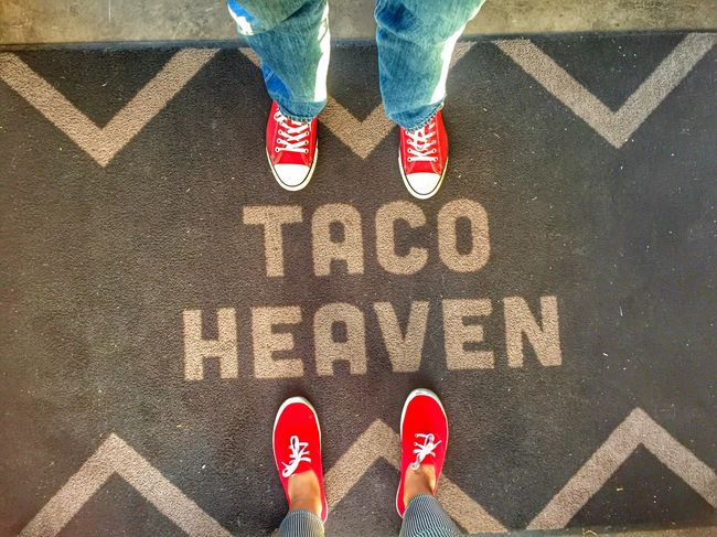 Yes it is! Taco Lovers Tacos Healthyliving Foodphotography Healthy Lifestyle My World Of Food Foodie Gluten Free Share Your Adventure The Foodie - 2015 EyeEm Awards Beautiful Day March Days Color Explosion Red Red Shoes Taco Heaven Day Date Fun Afternoons