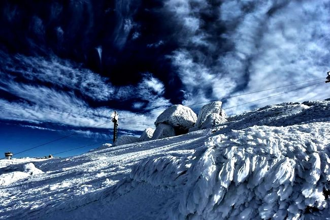Snow Winter Cold Temperature Mountain One Man Only One Person Outdoors
