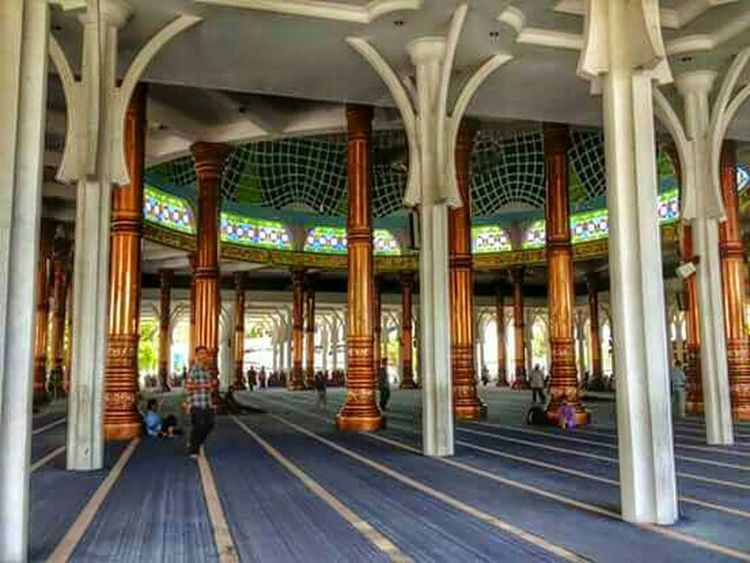 Amazing Architecture Mosque Jambi Sumatera INDONESIA The Thousand Pillars Mosque Columns And Pillars