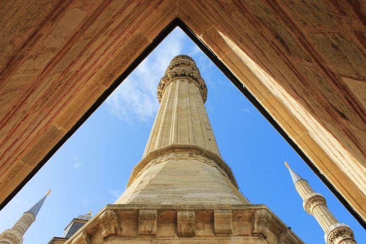 Selimiyecamii Edirne Minare AllahuAkbar