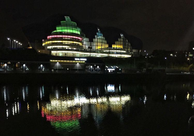The Sage in Gateshead The Sage Gateshead Newcastle Upon Tyne The Tyne Reflection River Gateshead Colours Colours Night Lights