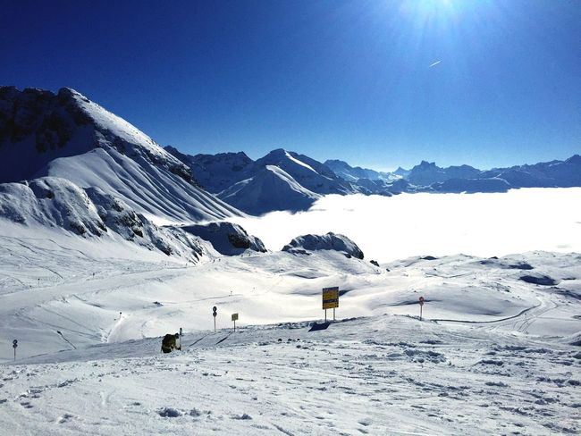 Take me back to the Mountains and Snow with the Blue Sky and White Powder - Pure Bliss Nature