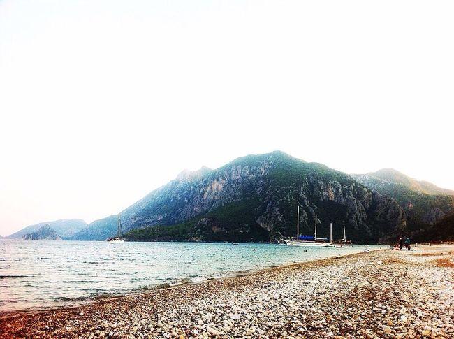 Mountain Nature Sea Beauty In Nature Scenics Outdoors Beach Tranquility Day No People Water Sky Clear Sky Adrasan Beach Olimpos, Kemer Antalya Turkey