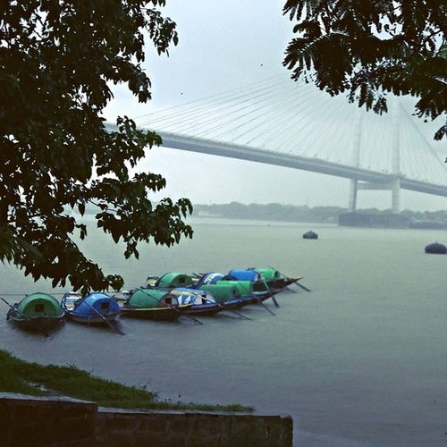 Ganga Riverside Rain Naturalcolor  Boats enjoying wid Dream