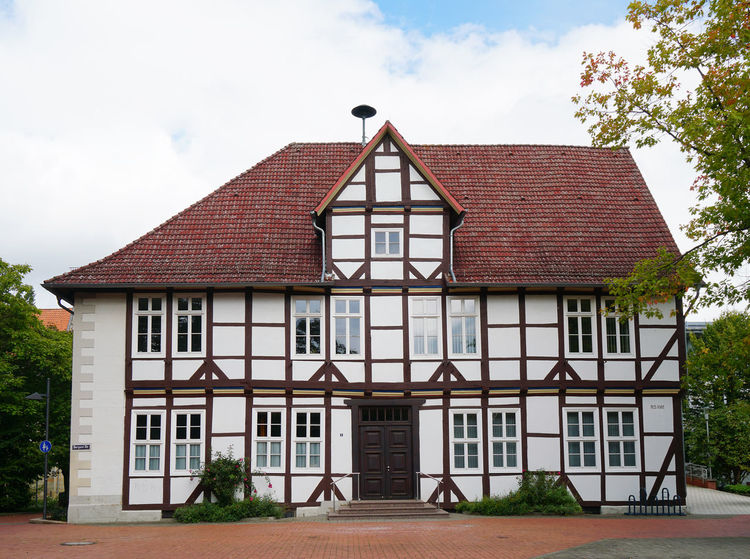 historic town hall in Barsinghausen, near Hannover, Germany Barsinghausen Timber-frame Architecture Building Building Exterior Day Detached House Germany Half-timbered Historic House No People Town Hall