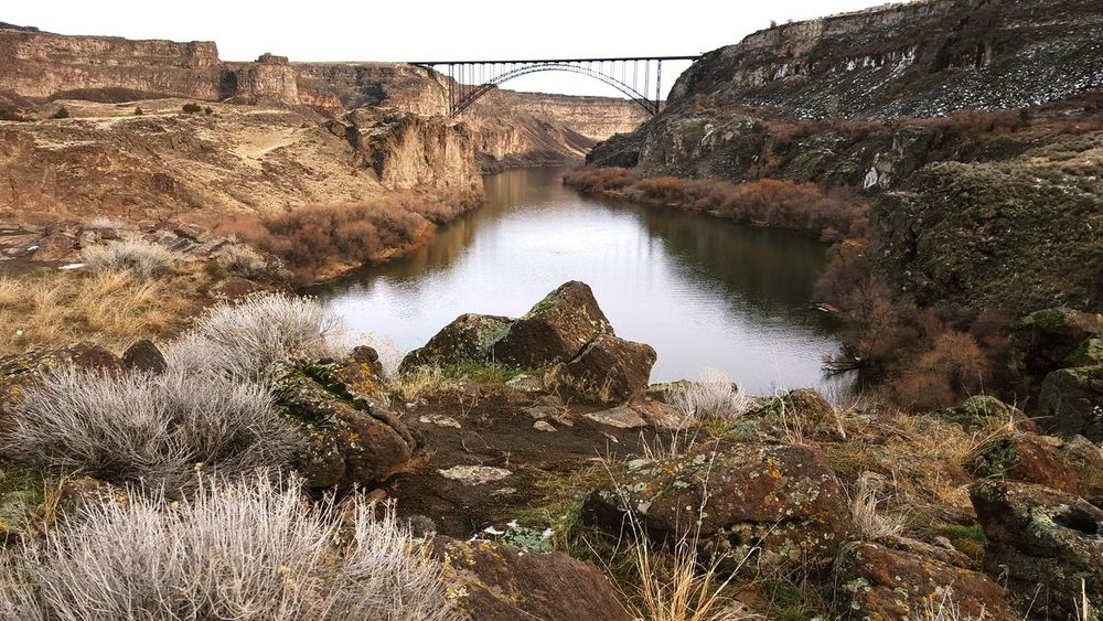 Our Canyon...Our Bridge First Eyeem Photo River Twin Falls, Idaho Snake River Canyon Idaho Nature Beauty In Nature Perrine Bridge