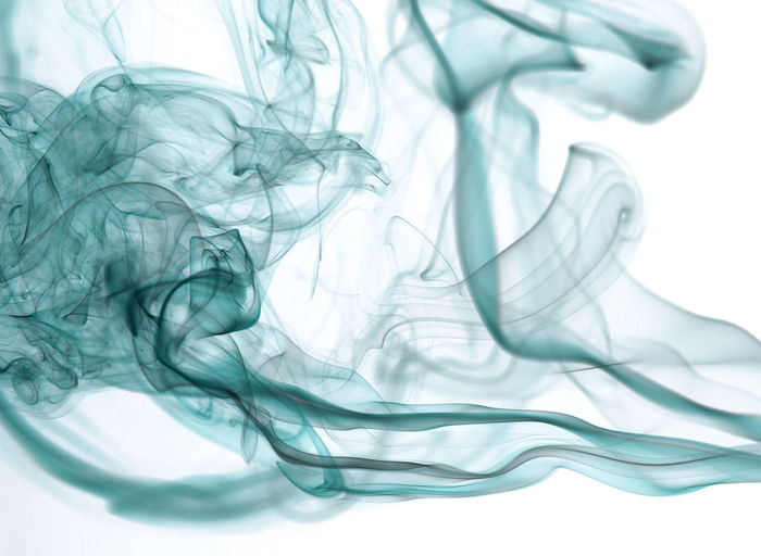 Close-Up Of Smoke Against White Background