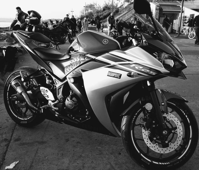 Aşk ✌ Transportation Land Vehicle Motorcycle Mode Of Transport Stationary Day Outdoors