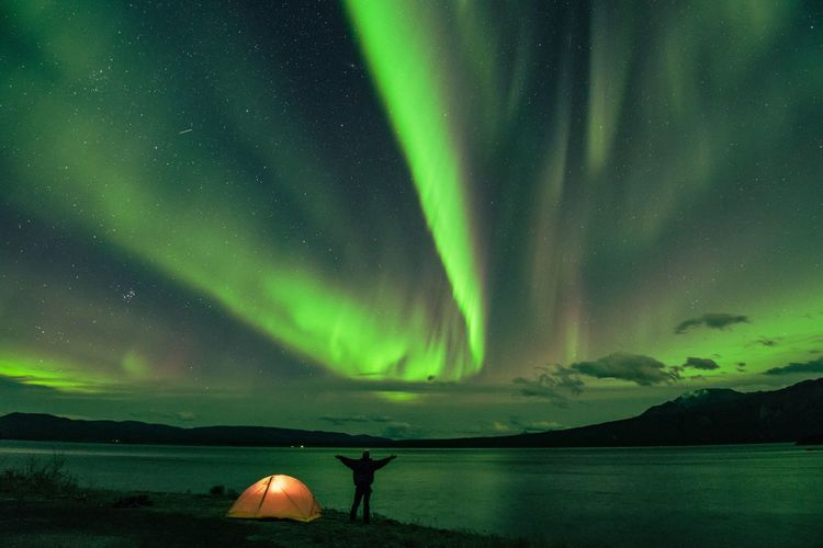 Incredible magic nights Beauty In Nature Night Aurora Polaris Astronomy Outdoors Landscape Lake norther lights Aurora
