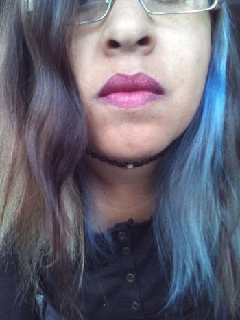 Grunge BlueHair Choker Chokergirl Choker❤ Fridakahlo Grungegirl GrungeStyle Lips Lips ♡ Lipstick Republicnail