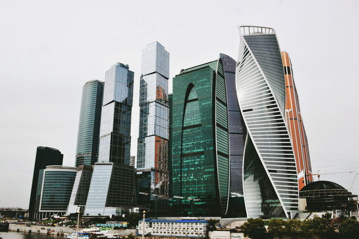 Architecture Building Building Exterior Built Structure Capital Cities  City City Life Cityscape Cloud - Sky Development Low Angle View Modern Moscow Moscow City No People Office Building Outdoors Russia Sky Skyscraper Tall - High Tower Travel Destinations Urban Skyline VSCO