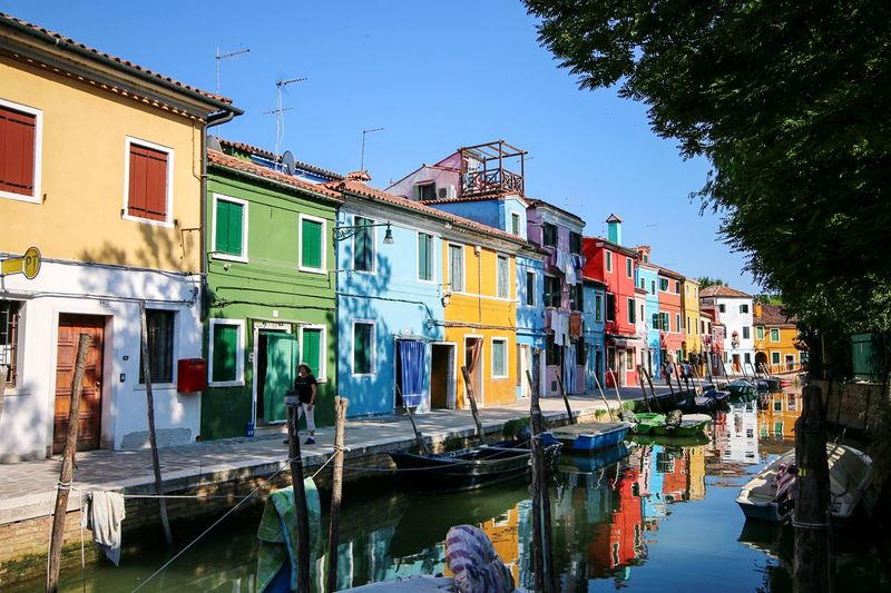 Colorful Island Buranoisland Colorful Italy Burano Building Exterior Built Structure Architecture Water Building Nature Sky Canal House Clear Sky