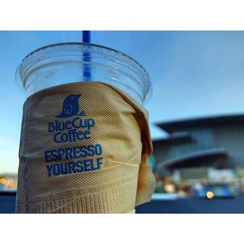 ฉีดเข้าเส้นได้ฉีดไปแล้ว😛Morning Icecoffee Coffee S &p Bluecup Coffee Cofeeaholic Sky Blue