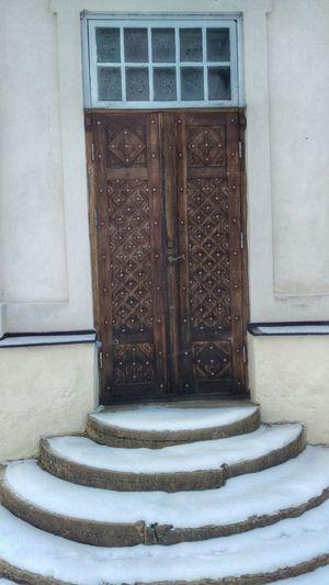 It's Cold Outside Door Interior Court Ekenäs Ekenäs Castle Ekenäs Slott Tourism Scandinavia Sverige Sweden Snow ❄ Snow