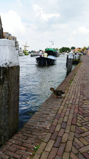 Hanging Out Taking Photos SamsungS5 Boats Leidschendam Vliet Clouds Holland Mill Church