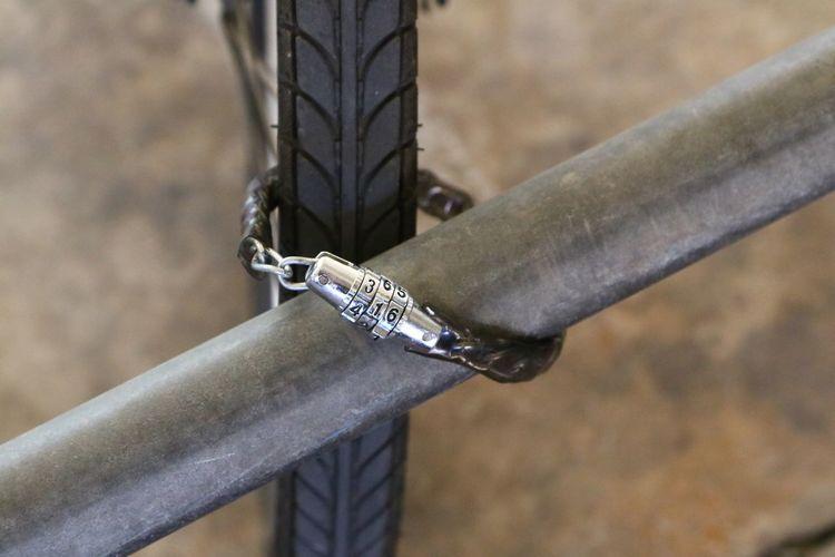 Protection Instruments Hook Rusty Strength Locks Matel Handlebar Key Rock Climbing Metal U Lock Locker Bicycle Chain
