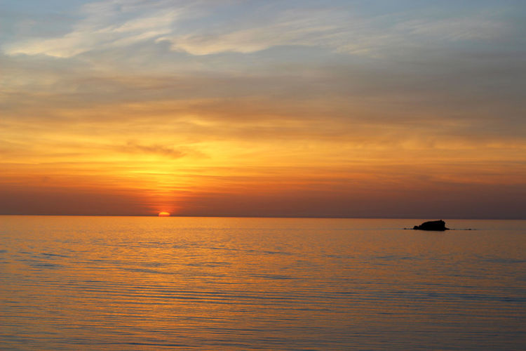 Beauty In Nature Calm Cloud Cloud - Sky Dramatic Sky Greece Horizon Over Water Idyllic Lesbos Lesvos Nature No People Orange Color Outdoors Remote Rippled Scenics Sea Seascape Sky Sun Sunset Tranquil Scene Tranquility Water