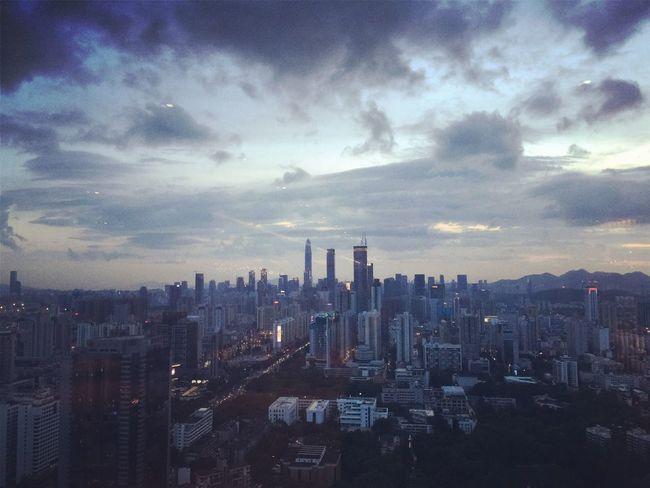 深圳,暮色