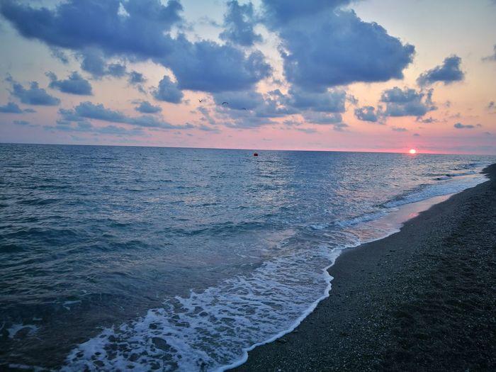 EyeEm Selects Sunset Summer Horizon Over Water Landscape First Eyeem Photo