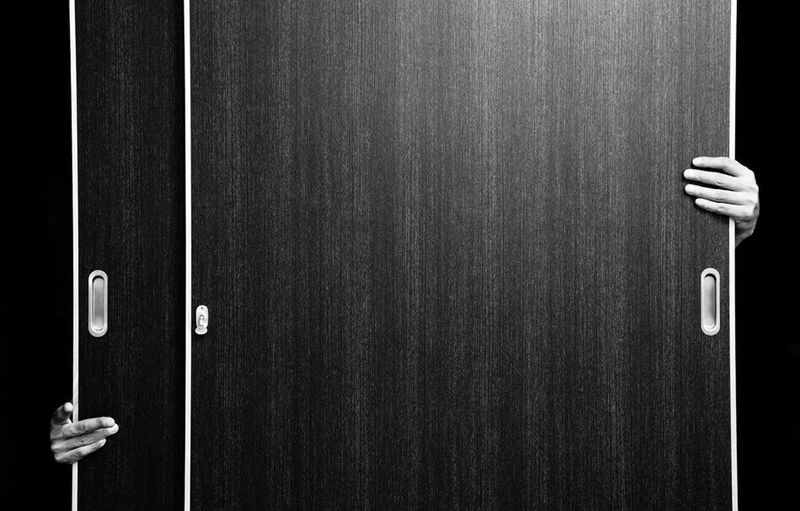 Blackandwhite Photography Hand Self Portrait Japan Blackandwhite Door Alone Interior Design