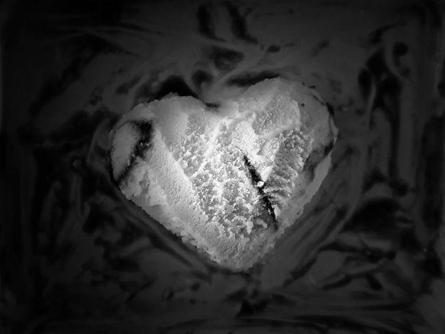 | Icecream heart | Icecream Black And White Heart Shape EyeEmItaly Close-up Heart Shape The Still Life Photographer - 2018 EyeEm Awards The Creative - 2018 EyeEm Awards