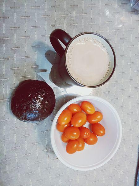 Breakfast Milk Tea Blackeyes Beam Tomaten Good Morning