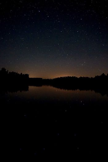 Night Beauty In Nature Nature Sky Constellation Tranquility Water Sweden Karlskrona Big Dipper Stars