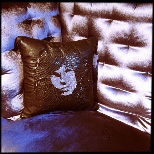 Jim Morrison pillow. For the rock star who has everything.