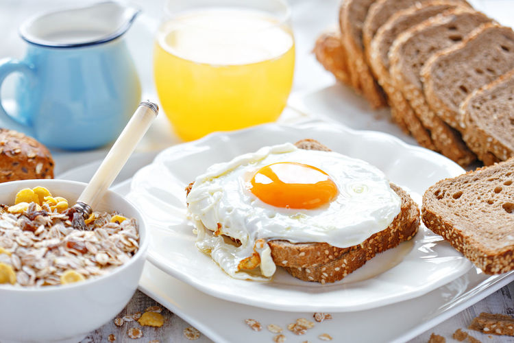 Fried egg breakfast Bread Breakfast Egg Egg Yolk Food Food And Drink Freshness Fried Egg No People Ready-to-eat Toasted Bread