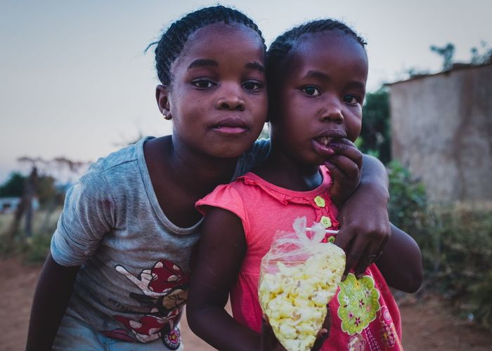 Girls Two People Travel South Africa Portrait