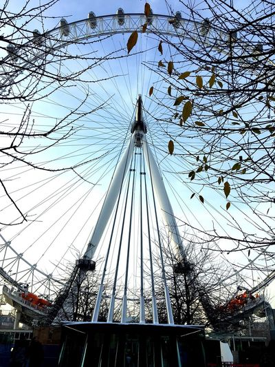 Sky Low Angle View Cable Outdoors Built Structure Mast Ferris Wheel Day Architecture Amusement Park No People