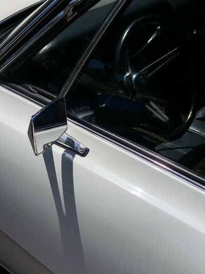 High angle view of car window