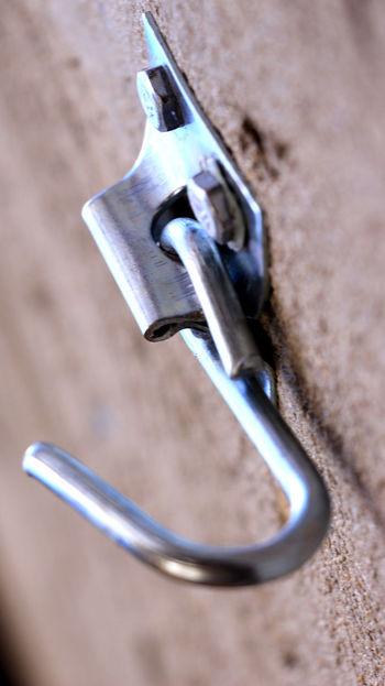 Gancho de Rede Detalhe Gancho Close Up Close-up Detail Gancho De Parede Rede Suporte