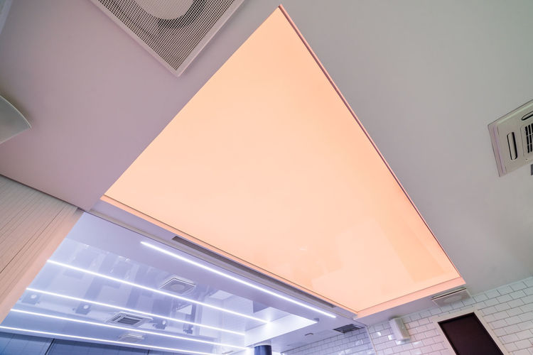 Vinyl stretch ceiling Ceiling Light Roof Architecture Built Structure Day Illuminated Indoors  Inner Roof Light Ceiling Low Angle View No People Vinyl Stretch