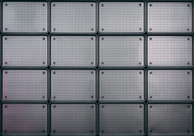 Full Frame Pattern Backgrounds No People Repetition Architecture Metal Grid Textured  In A Row Built Structure Safety Shape Close-up Day Wall - Building Feature Design Indoors  Geometric Shape Window