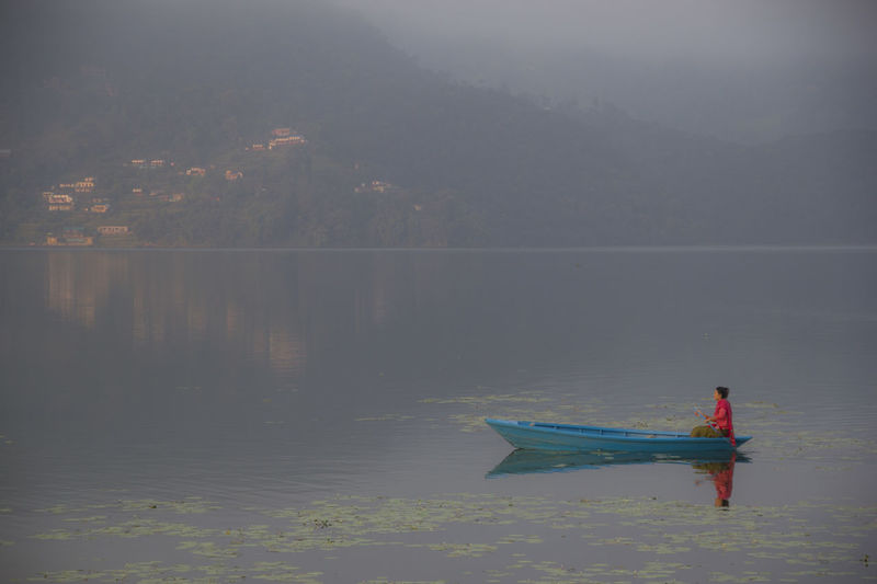 Lake Nature Outdoors People Phewa Lake Pokhara! Real People Scenics Tranquil Scene Tranquility Water