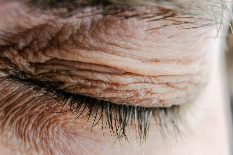 Closed eyes EyeEm Best Shots Eyes Are Soul Reflection Eyes Down Close-up One Person Human Body Part Indoors  Real People Extreme Close-up Adult Human Skin Eyes Closed  Body Part Selective Focus Skin Hair Textured  Human Hair Human Face The Week On EyeEm Editor's Picks