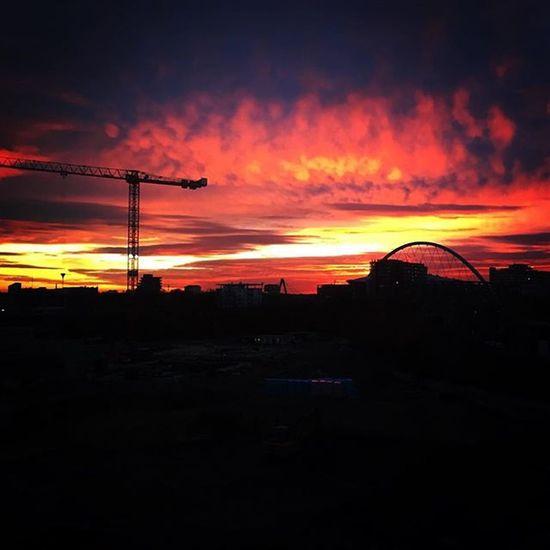 Evening Clouds Cologne Dom Köln Wolken Kran Lanxessarena Baustelle Sun Sonne
