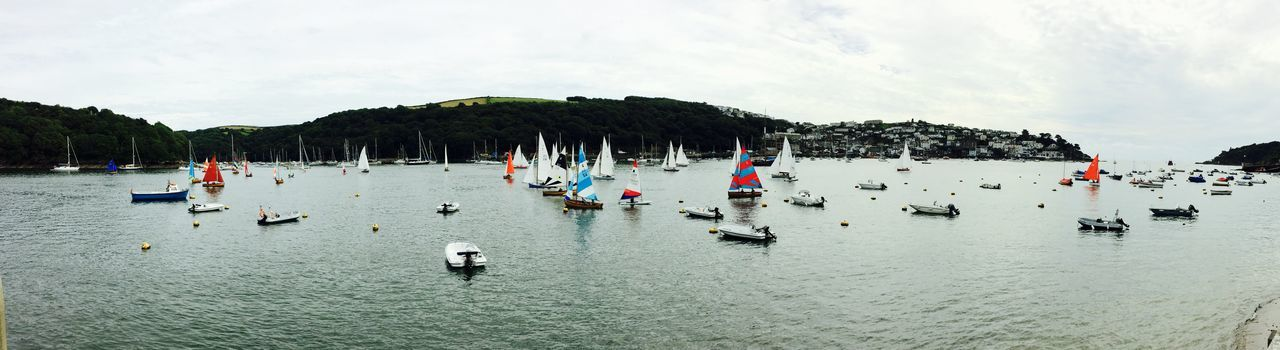Cloud - Sky Day Fowey Cornwall Fowey Harbour Leisure Activity Nature Outdoors People Real People Sky Sport Water