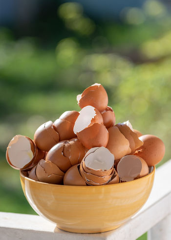 Food Egg Food And Drink Freshness Focus On Foreground Close-up Healthy Eating Wellbeing No People Brown Table Raw Food Still Life Bowl Nature Shell Day Eggshell Container Wood - Material