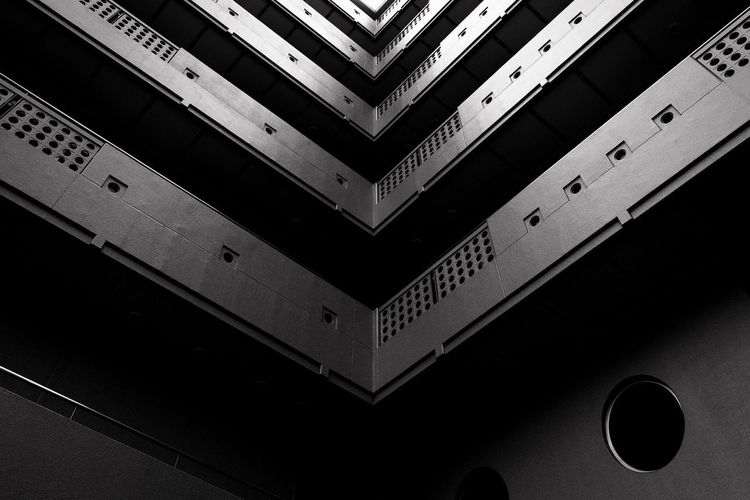 Blackandwhite XF16mmF1.4 Xpro1 Building Exterior Pattern No People Close-up Full Frame Indoors  Backgrounds High Angle View