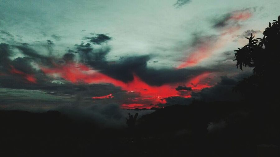 Burning sky Sky