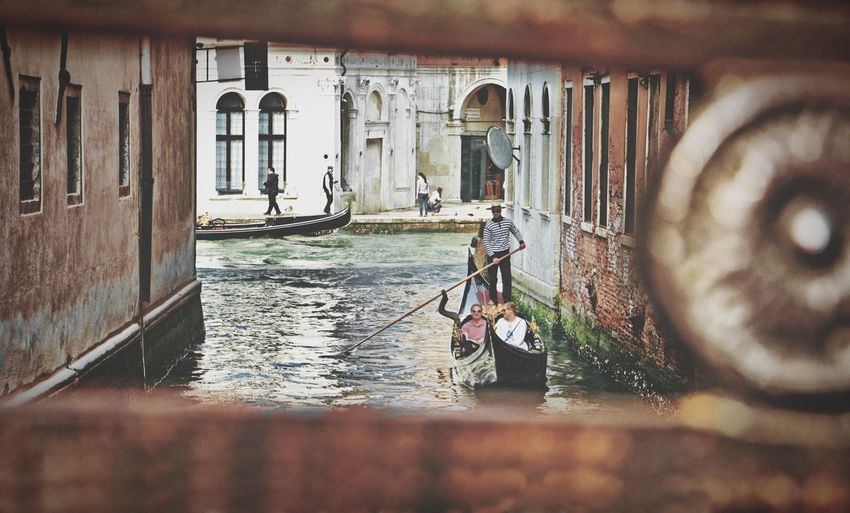 Nikon OpenEdit Gondolier Gondola - Traditional Boat Italy Italia Veneto Venezia Venice, Italy Venice Travel Destinations Travel Photography Tranquil Scene Famous Place Water