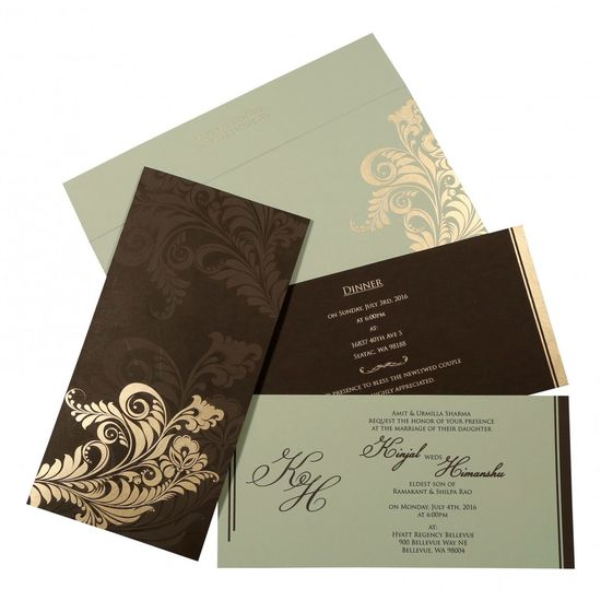 Glamorous grey Indian wedding invitation – IN-8259C- 123WeddingCards 123WeddingCards Indian Wedding Cards Indian Wedding Invitations Indian Wedding Invites Modern Wedding Invitations Unique Wedding Invitations Wedding Invitation Designs