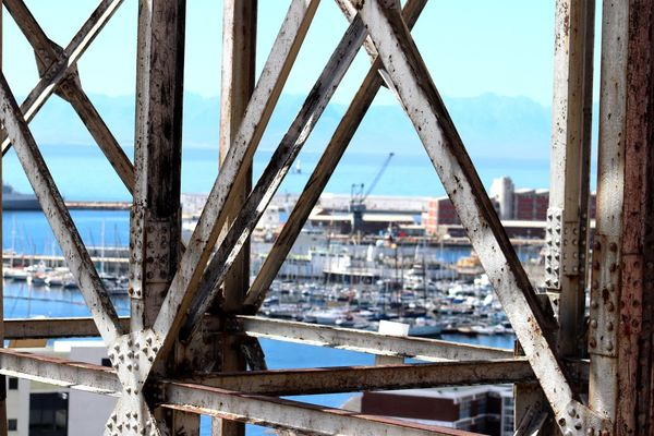 Aerial Cableway DISUSED SimonsTown Architecture Bridge - Man Made Structure Building Exterior Built Structure City Cityscape Connection Day Girder Metal Structure Naval Sanatorium Navy No People Outdoors Redhill Rusted Metal  Simons Town Harbour Sky Go Higher