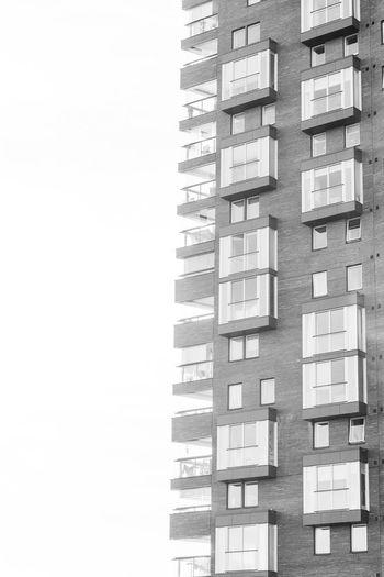Sweden high rise. Architecture Monochrome Blackandwhite Built Structure Building Exterior Architecture Building No People Copy Space Studio Shot Residential District City Day Low Angle View Sky Outdoors Clear Sky Window Tower Pattern Nature In A Row
