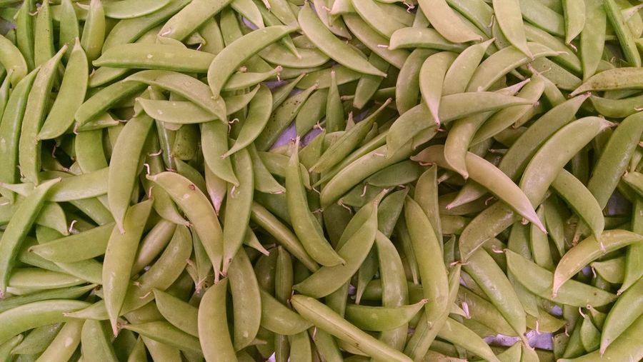 Full Frame Shot Of Green Peas For Sale At Market